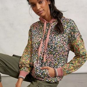 NWT Anthro Conditions Apply Felicity Floral Hoodie